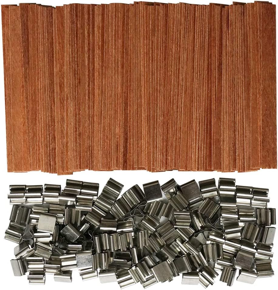 100 Piece 5inch Wood Candle Wicks Medium Crackle for DIY Candle Making
