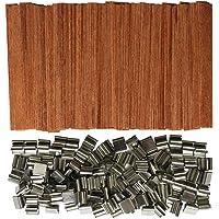 Gnognauq 100 pièces Mèches de bougie en bois pour Fabrication de bougies et bougie bricolage (12,7cm)