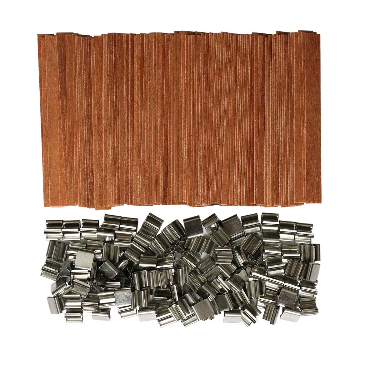 100 Piece 5 inch Wood Candle Wicks Medium Crackle for Candle Making