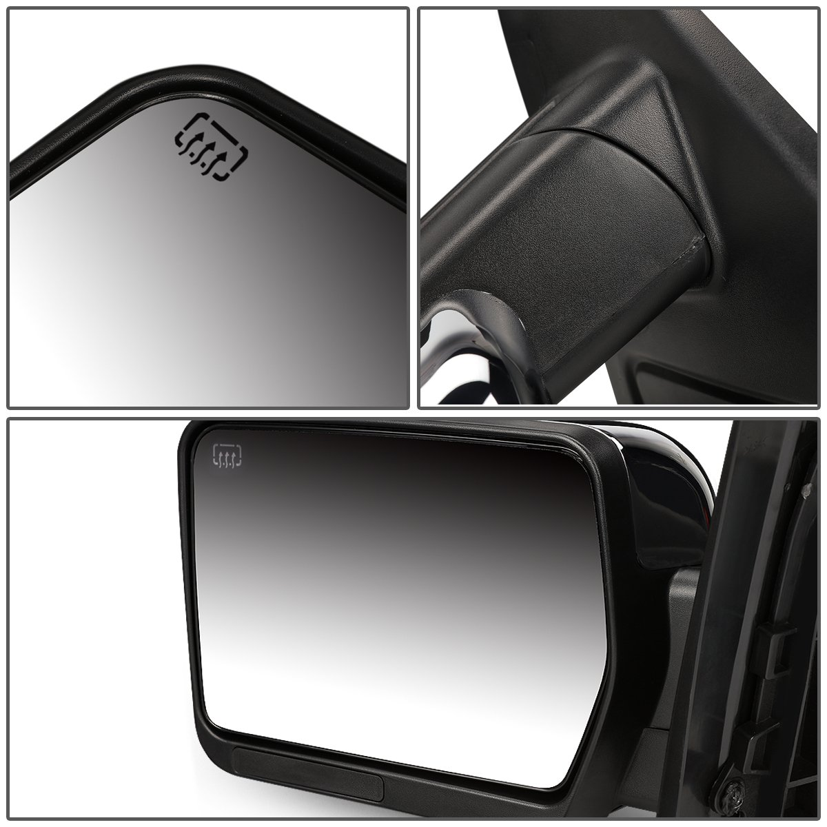 For 04-14 Ford F150 DNA Motoring TWM-019-T111-CH-L Towing Side Mirror Left//Driver Side