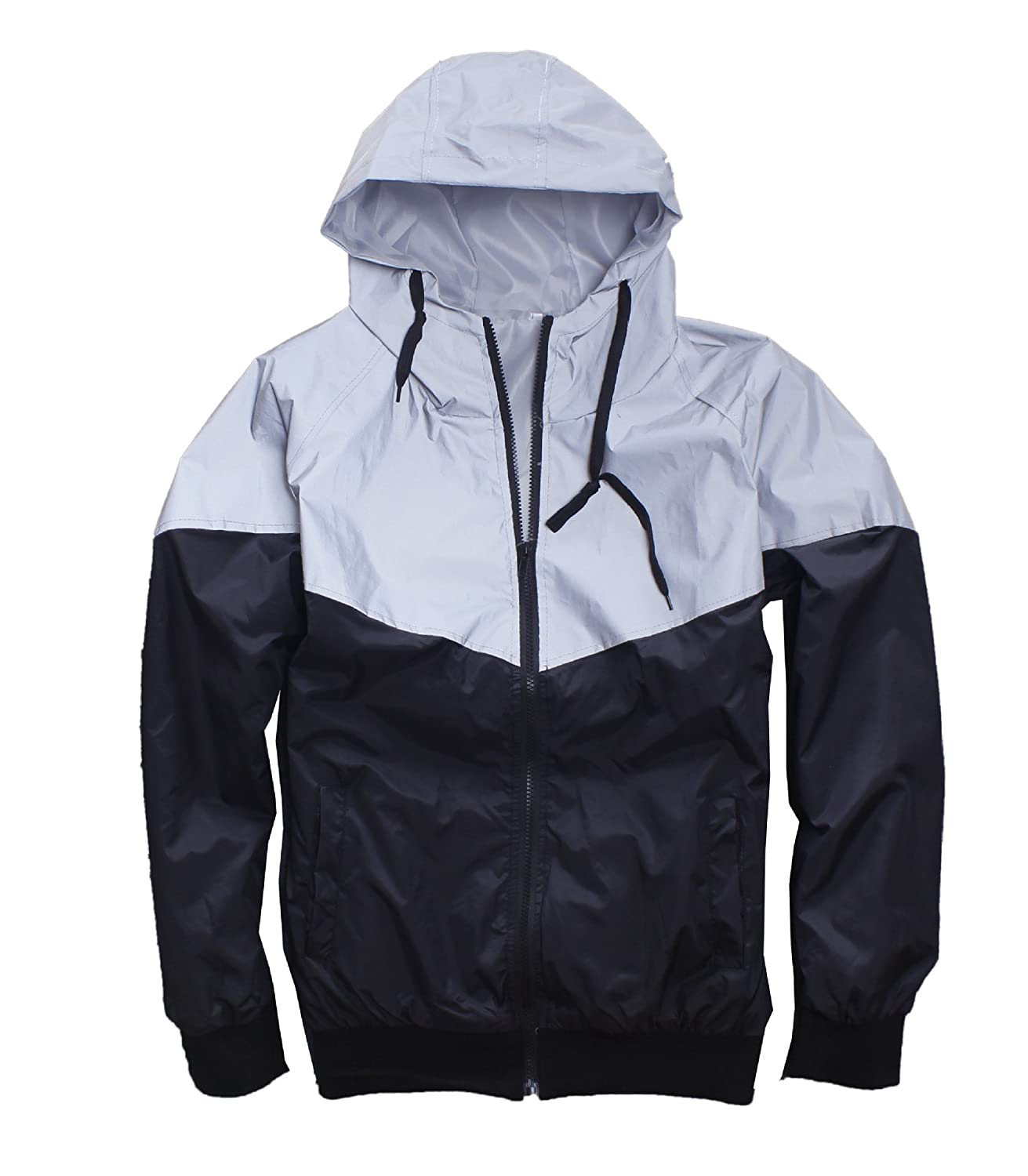 5698ba76 Men\'s Outerwear 3M Reflective Running Jacket for Running Cycling The Size  is Asian Size,it is smaller than US size. Please kindly check the size  below ...