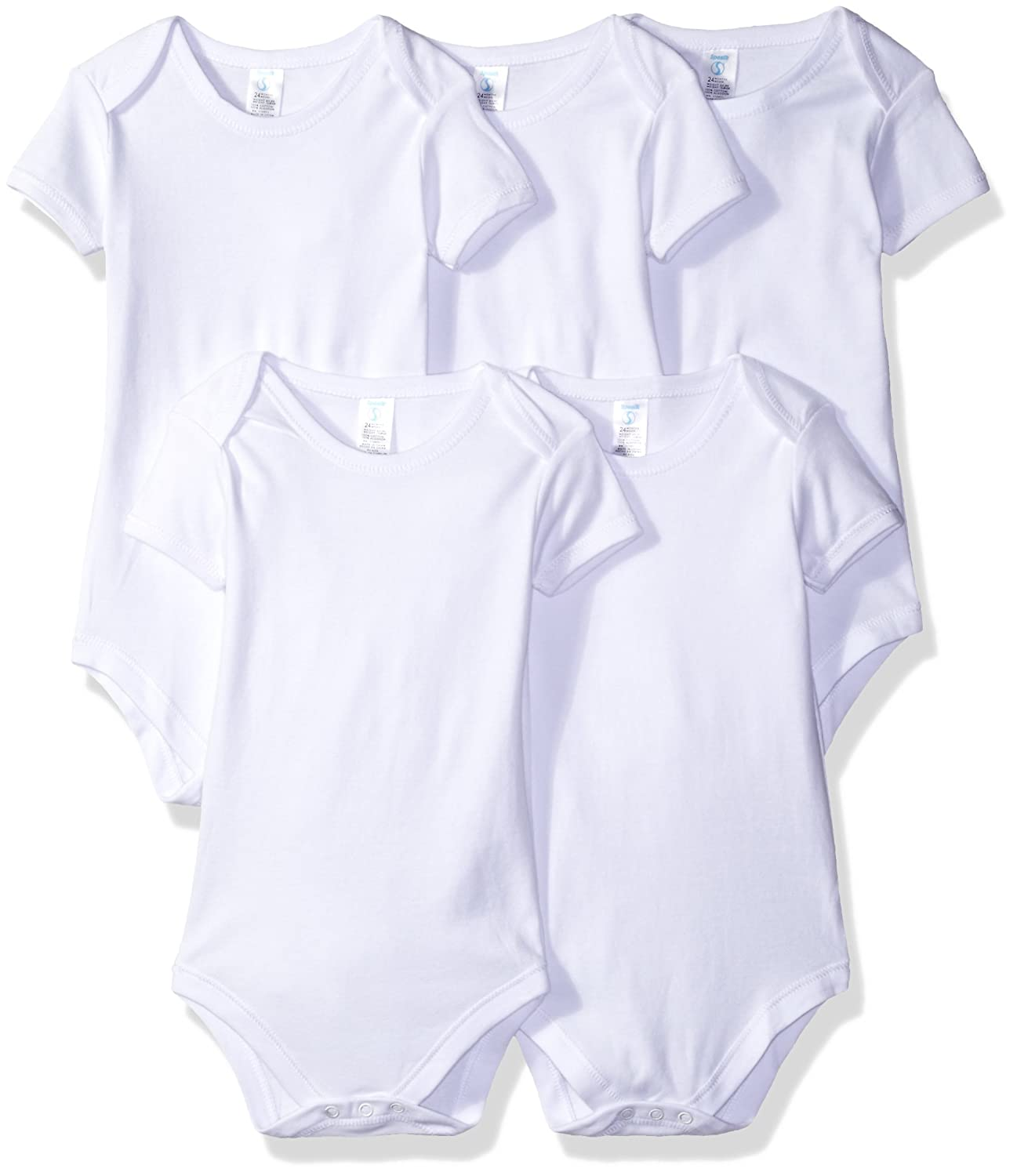 Spasilk Baby Cotton Short Sleeve Lap Shoulder Bodysuit