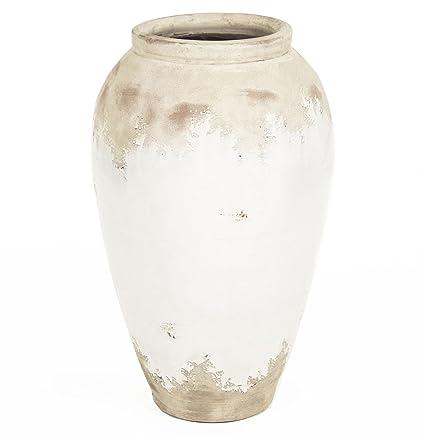 Amazon Kathy Kuo Home Siena White Rustic Distressed White