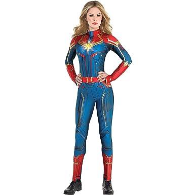 Entzückend Amazon.com: Costumes USA Light Up Captain Marvel Halloween Costume For  Women, Superhero Jumpsuit, Large, Dress Size 10 12: Clothing