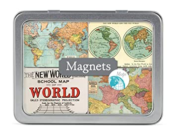 Amazon cavallini magnet set vintage maps 24 assorted magnets cavallini magnet set vintage maps 24 assorted magnets packaged in a tin gumiabroncs