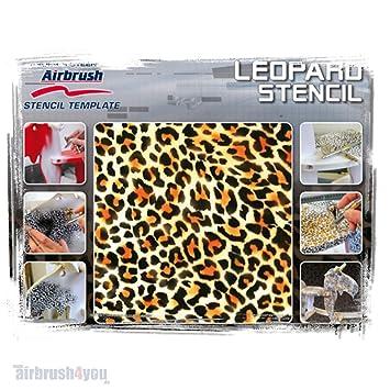 Airbrush Stencil Leopard 410142  Harder /& Steenbeck
