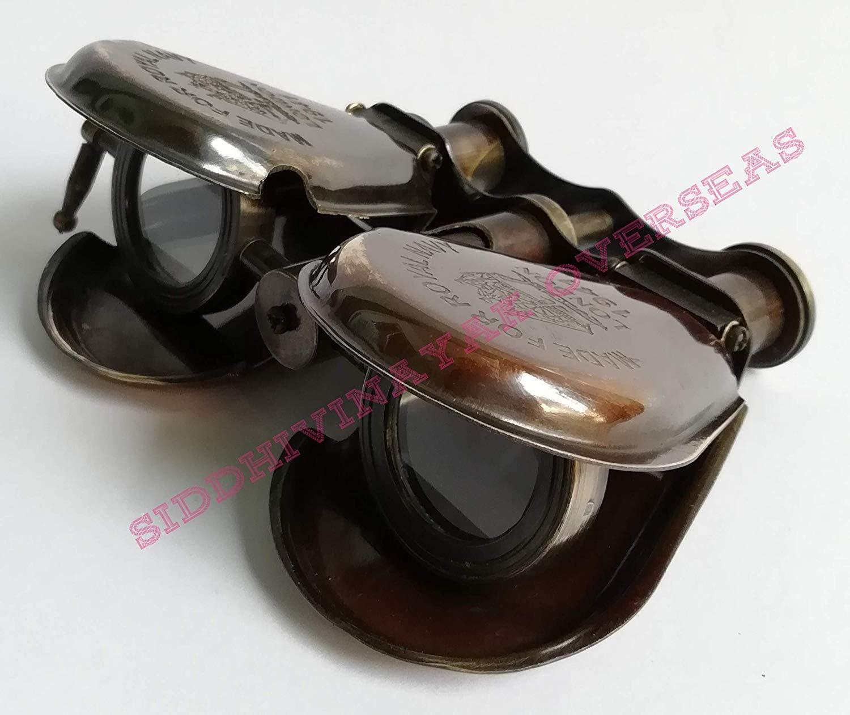 f 5 Brass Antique Finish Vintage Spyglass Nautical Binocular Beautiful