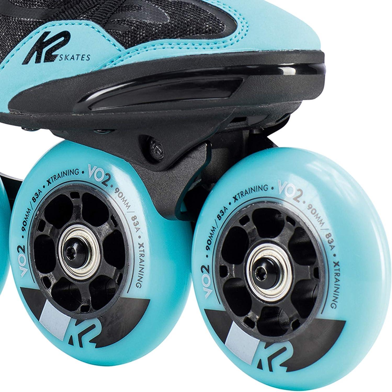 5 UK K2 Skates Damen VO2 S 90 PRO W Inline Skates Black-Light Blue 38 EU