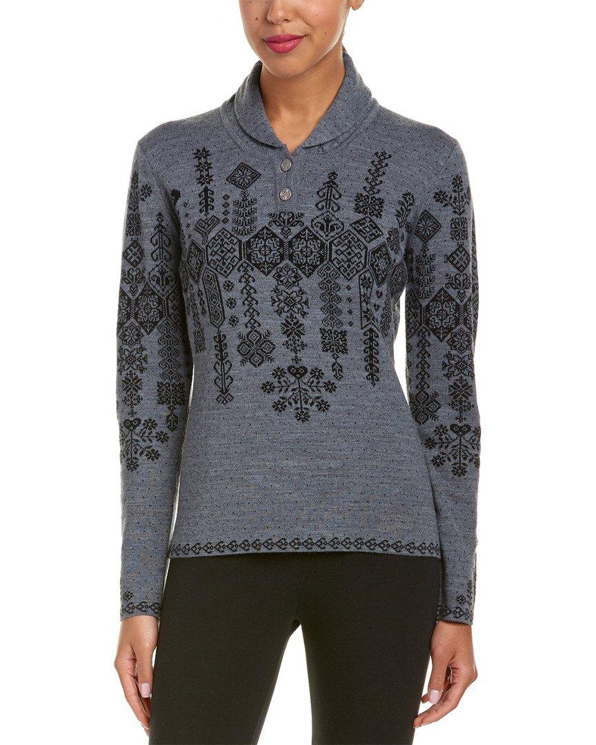 Obermeyer Cabin Knit Pullover Sweater Women's Light Heather Grey Small