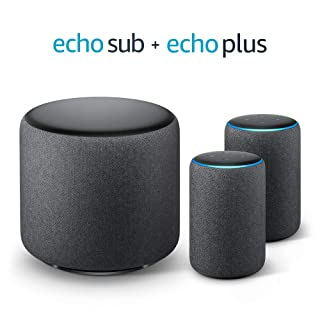 Echo Sub Bundle with 2 Echo Plus (2nd Gen) Devices - Charcoal