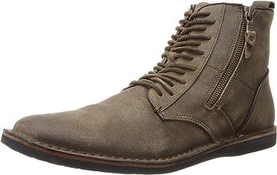 John Varvatos Star USA Men s Barrett Side Zip Boot 11 D(M) Wood Brown 6771660b4