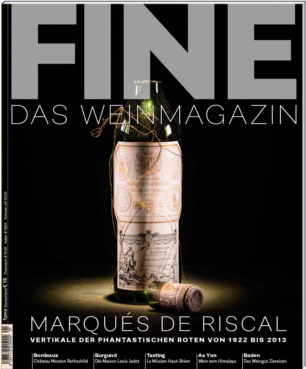 FINE Das Weinmagazin 01/2018: 40. Ausgabe