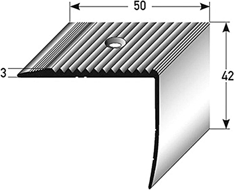 42x50mm Profil dar/ête descalier acerto 34016 Profil dangle descalier en aluminium 100cm profil de marche en aluminium bronze fonc/é * Antid/érapant * Robuste * Montage facile