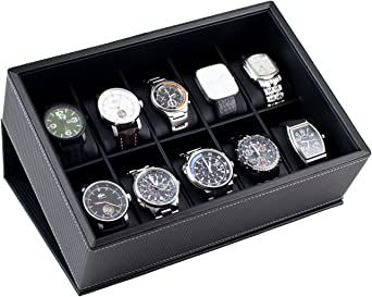 Caddy Bay Collection Reloj Pantalla Caja Estuche para 10 relojes ...