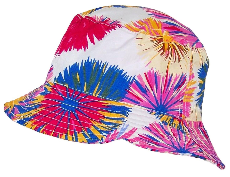 Tropic Hats Lightweight Hawaiian/Floral Designed Floppy Bucket Cap (One Size)