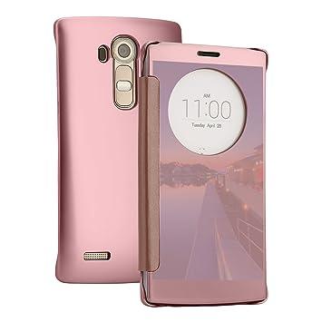 check out e4b19 c708f Case LG G4, TOROTON LG G4 View Mirror Folio Flip Case Cover for LG G4 (Rose  Gold)
