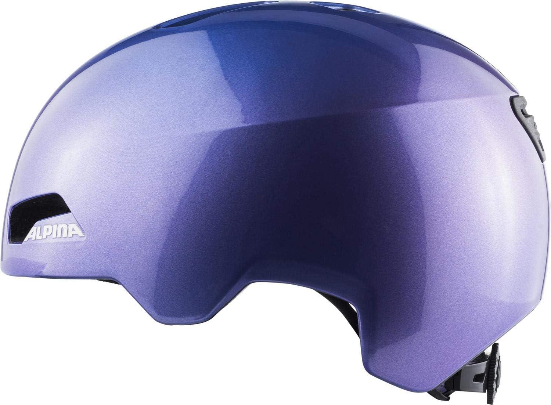 Flip Flop Purple ALPINA Hackney 51-56 Caschi da Ciclismo Unisex-Youth