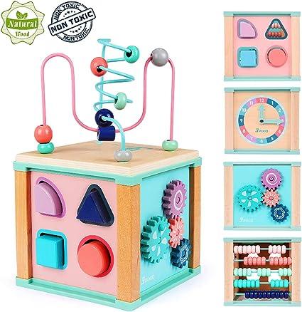 Amazon.com: Ulmisfee - Cubo de actividades para bebé, forma ...