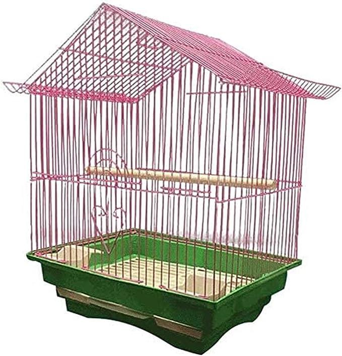 Jaula dpájaros duradera y ecológica, Parrot Jaula Birdhouses Birds Life Life Bird Cage Economica Cultura Pájaro Jaula Avanzada para loros Pequeño Gorrión Cría 28 cm × Ancho 21 cm × Altura 38cm (Color: