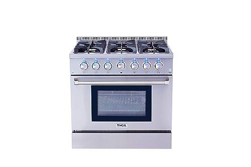 Kuchnia Thor Hrg3618u 36-calowy, wolnostojący, profesjonalny system gazowy Thor