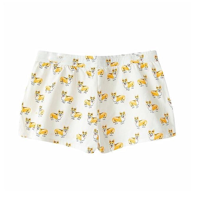 b15083d531 Fashion Culture Women s Corgi Dog Print Pajama Lounge Shorts