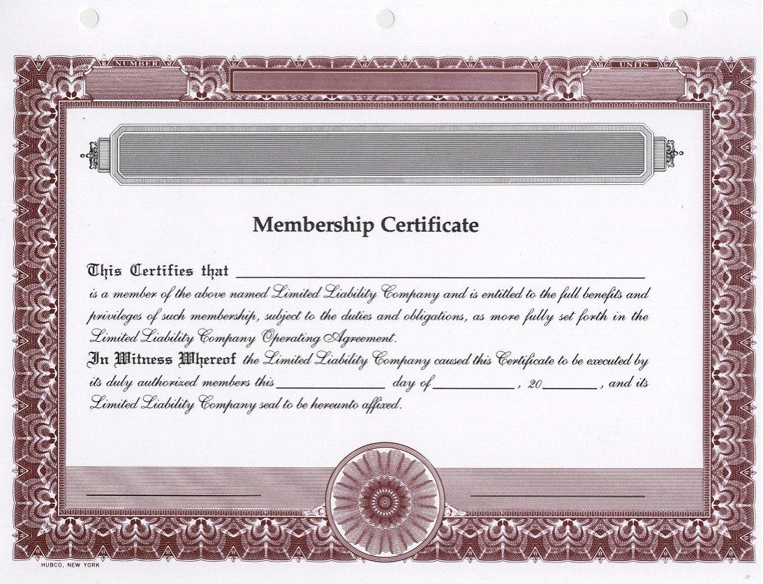 Amazon Hubco Llc Membership Certificates Blank Burgundy 15