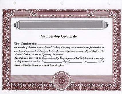 amazon com hubco llc membership certificates blank burgundy 15