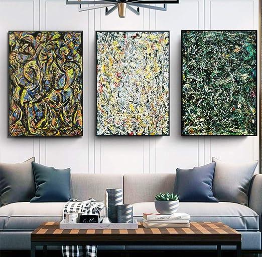 "Framed Canvas Abstract Series#6 by Jackson Pollock Giclee Print Art 24/""x32/"""