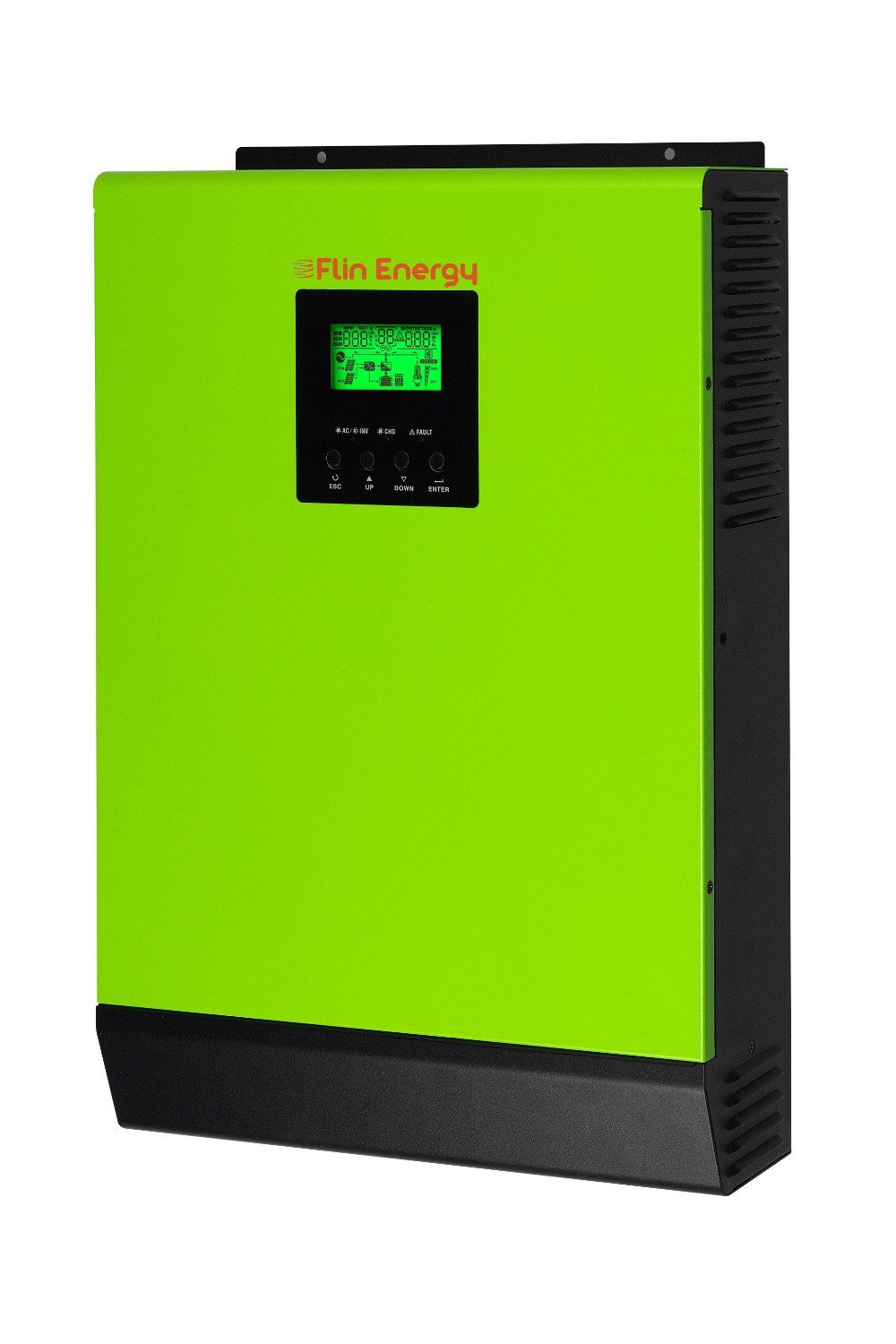 Flin Energy Lite 5kW-48V Smart Solar Hybrid OnGrid Inverter with Battery  Backup (Green and Black)