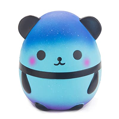 WATINC Jumbo Panda Squishies, Cute Starry Panda Kawaii Cream Scented Squishies Slow Rising Kids Toys Doll, Simulation Animal Toy for Birthday Gift, Collection, Stress Relief, Decorative Props Large: Toys & Games