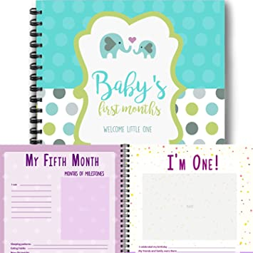 Amazoncom Elephant Babys First Year Memory Book First Year
