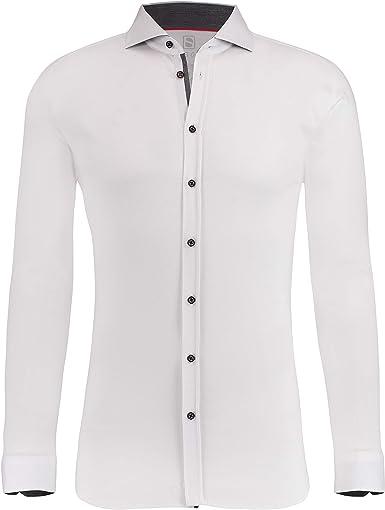 SOTO - Camisa Casual - Cuello Italiano - Manga Larga - para ...