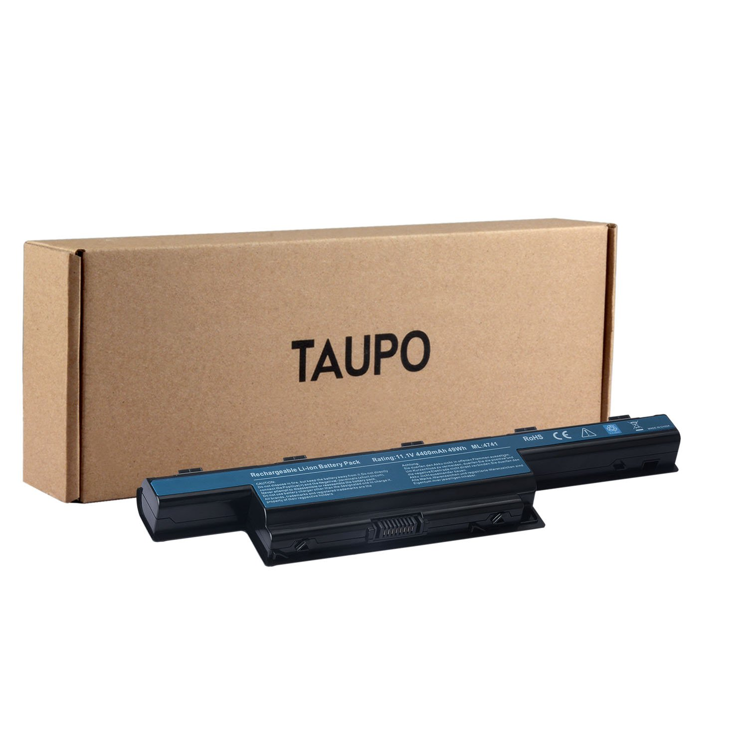 TAUPO New Laptop Battery Compatible with Acer AS10D31 AS10D51, Acer Aspire 5253 5251 5336 5349 5551 5552 5560 5733 5733Z 5740 5735 5735Z, Gateway NV55C NV50A NV53A NV59C - 12 Months Warranty
