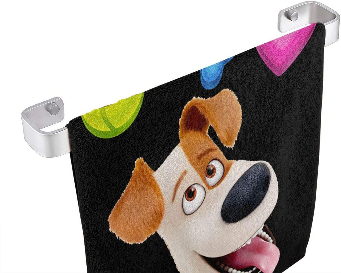 3 Pack Bath Towels Washcloths The Secret Life of Pets Love Dog Print 100/% Extra Soft Cotton Wash Cloth Soft and Absorbent Size 13 X 13 Machine Washable
