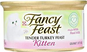 Fancy Feast Purina Kitten Tender Turkey Feast Cat Food, 3 Ounce