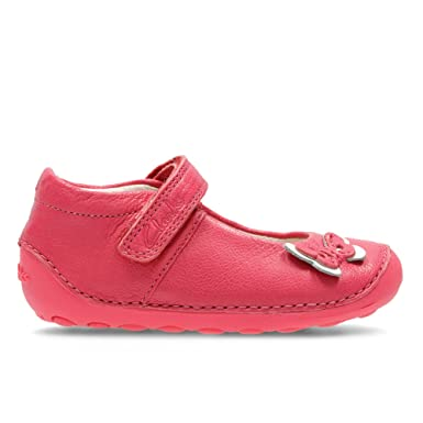 2895f87bb2c Clarks Little Mia Leather Shoes In Hot Pink Wide Fit Size 4½  Amazon ...