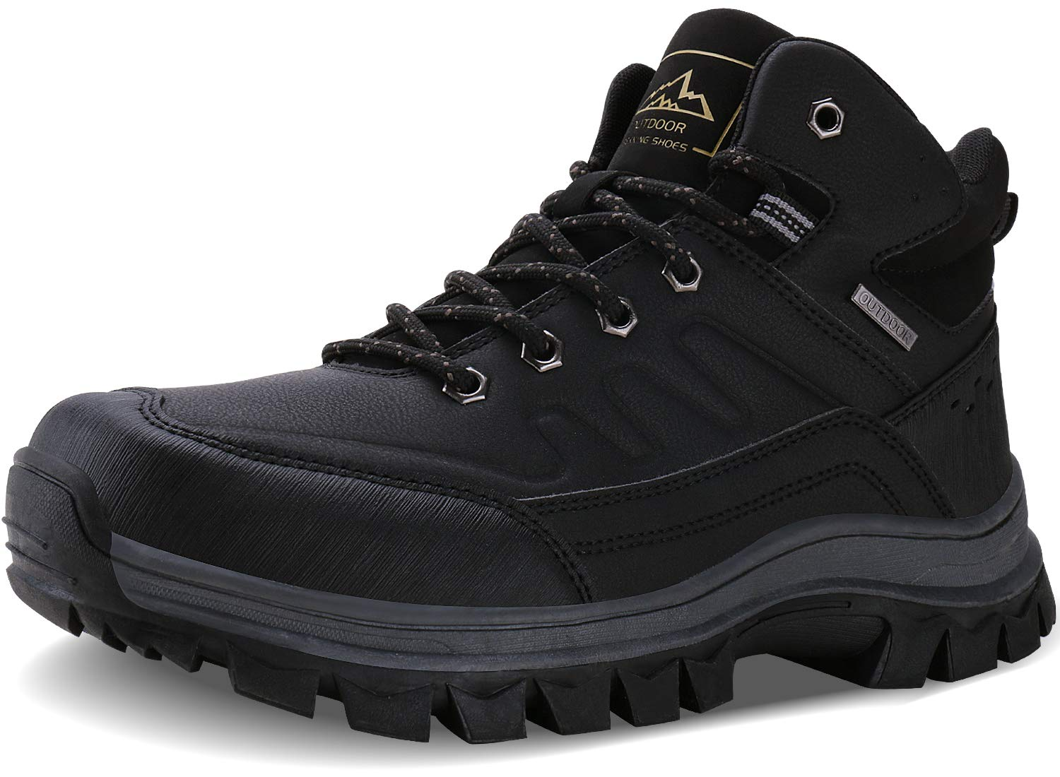Caitin Men's Insulated Cold-Weather Boots Durable Hiking Boots by Caitin