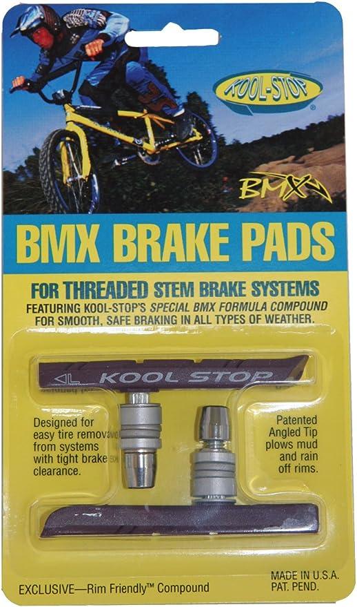 PAIR Kool Stop bicycle bike BMX V-brake Supra 2 THREADED brake pads WHITE