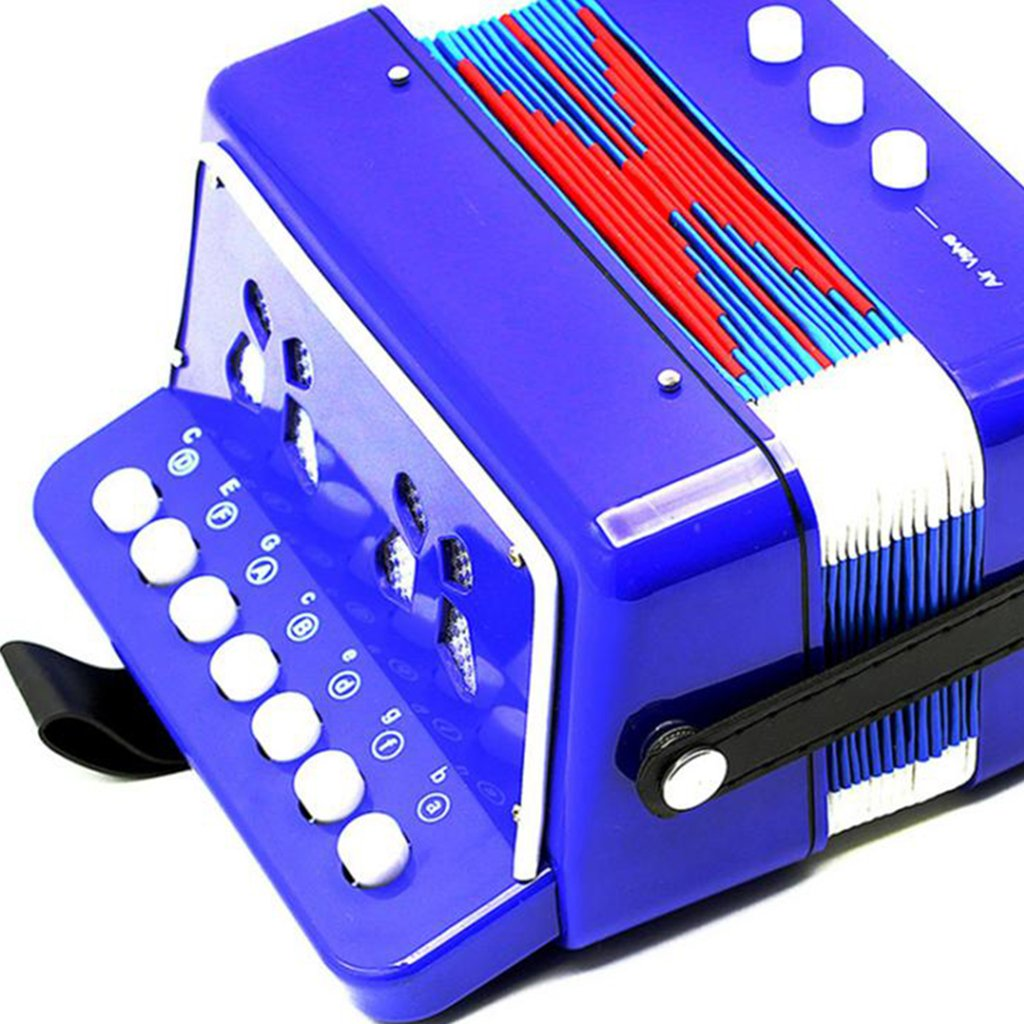 Almencla Kids Percussion Accordion Musical Toy Children Musical Instrument Blue by Almencla (Image #4)