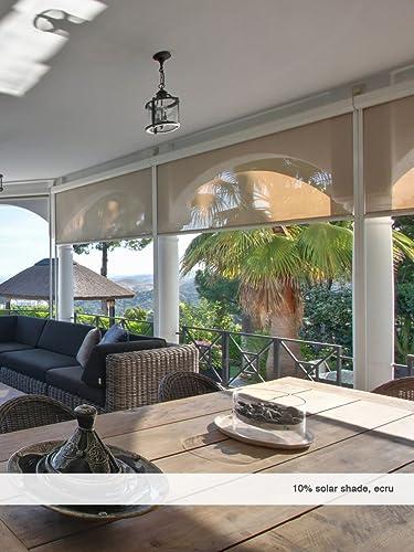 Windowsandgarden Custom Solar Shades 10 Percent Openness 95w x 96H
