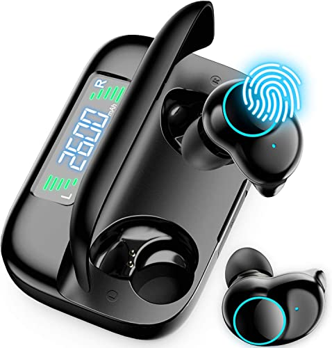 ONIKUMA Wireless Earbuds, Bluetooth 5.0 Earbuds with Charging Case 156Hrs Playtime Waterproof Wireless Earphones TWS Stereo Headphones in Ear for Clear Calls, Sports
