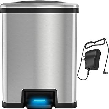 Amazon.com: iTouchless AutoStep 13 - Taza de basura ...
