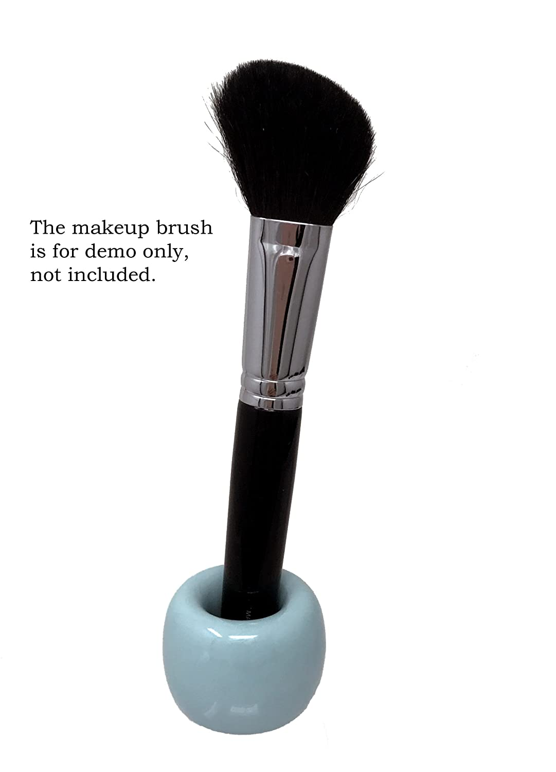 Tetra-Teknica Less is More Series TBS-02 Porcelain Toothbrush Stand 2 per Pack Color Blue