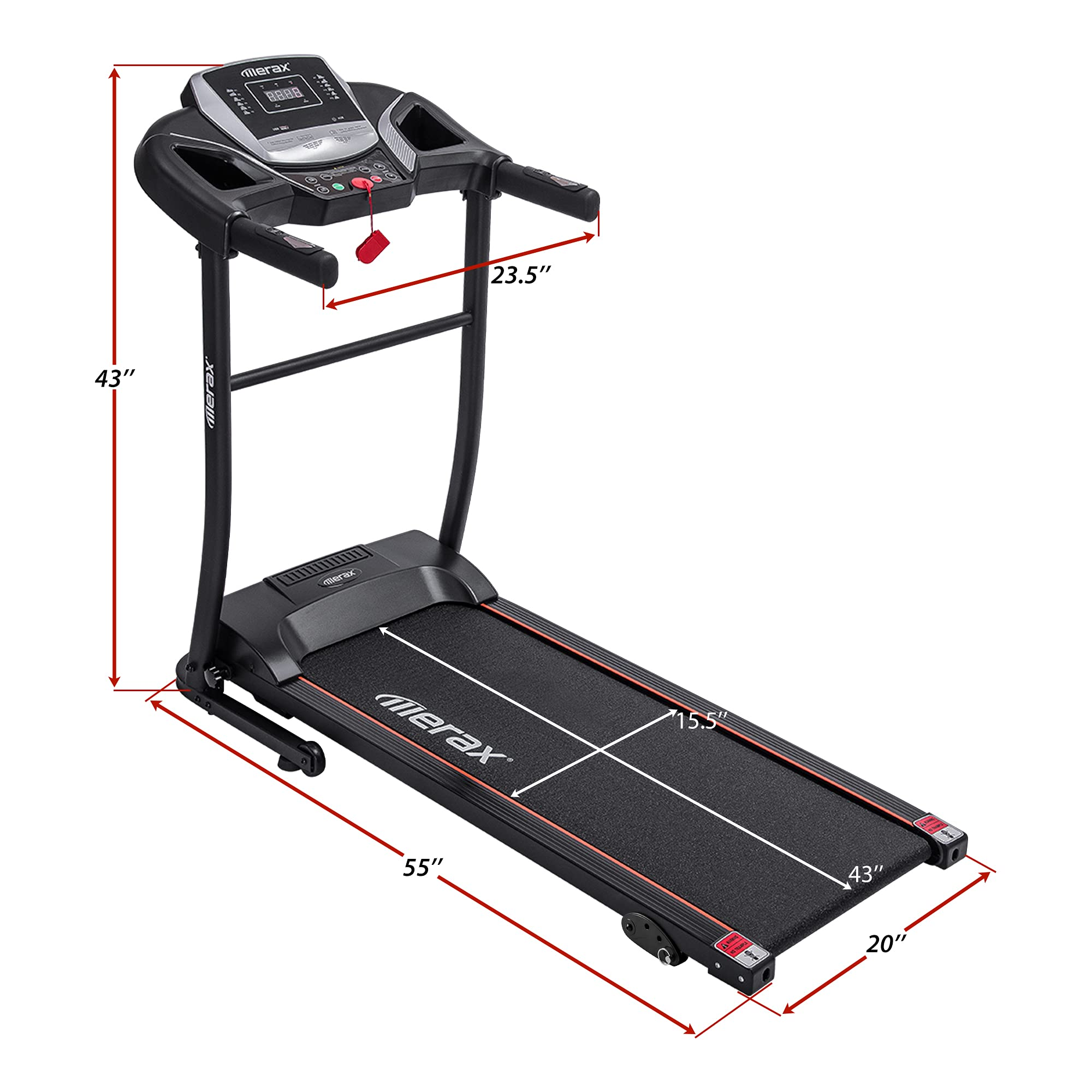Treadmills Easy Assembly Electric Motorized Exercise Machine for ...
