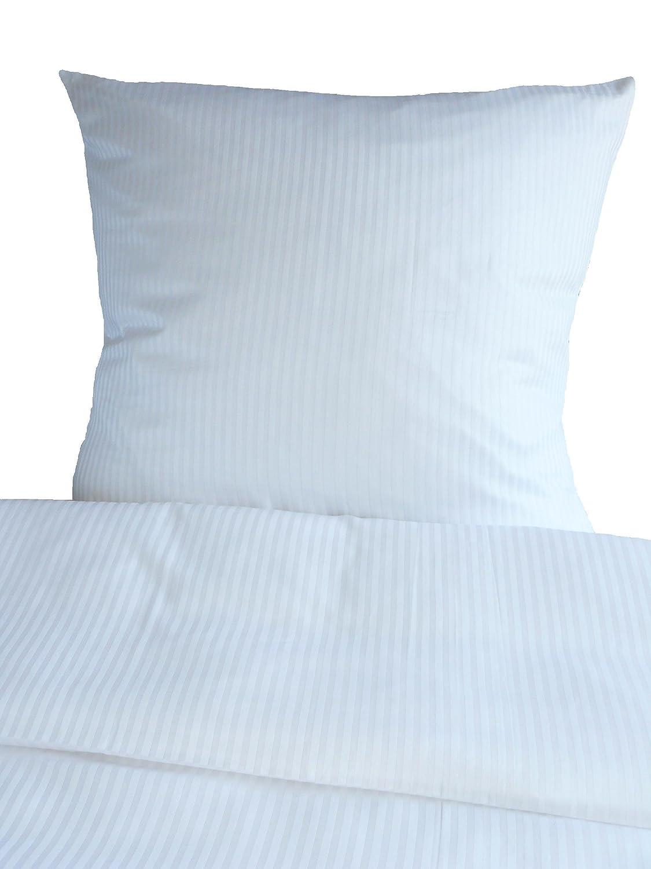 80x80 cm Bettwäsche Sonderangebot! Hotelbettwäsche Linon weiß 135x200