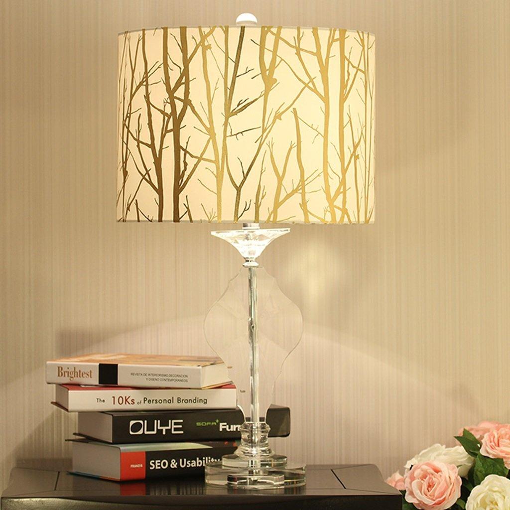 Lampe de chevet e, cristal design pas cher - lampe à poser chambre à coucher