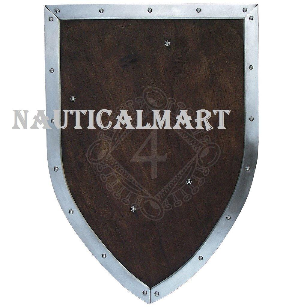 NAUTICALMART中世Battle Shield withレザーストラップ