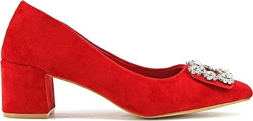TALLA 37 EU. Modelisa - Zapato Tacón Medio Mujer