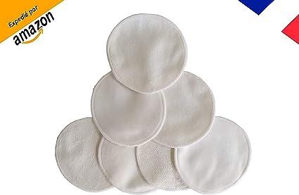 Discos desmaquillantes lavables de bambú, algodón desmaquillante de bambú reutilizable – Pack de 7 unidades – Ecológico, reciclable, vegano, cero residuo – [marca francesa]: Amazon.es: Belleza