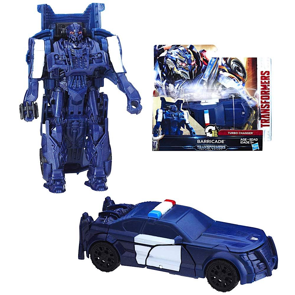 Amazon.com: Cyberfire Barricade One Step Transformer Action Figure 4.5